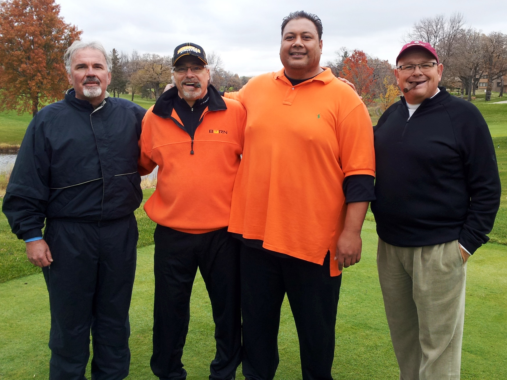 """The Majors"" Promotion winner with friends at Minnesota Valley Country Club."